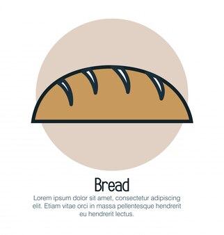 Brood bakkerij geïsoleerde pictogram