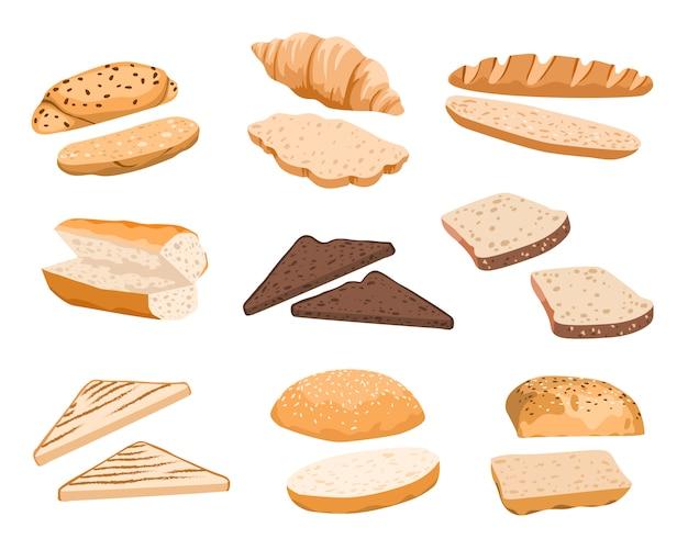Brood broodjes illustratie