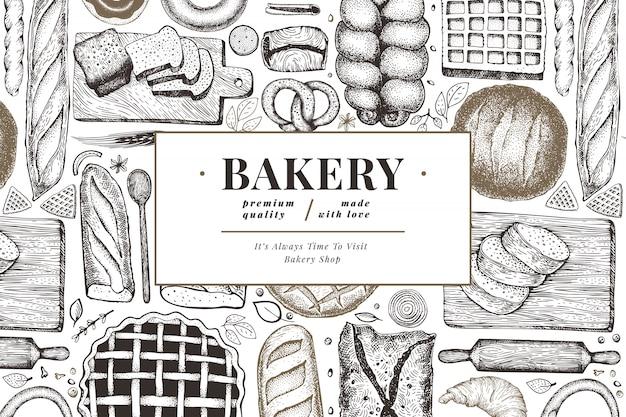 Brood en gebak banner.