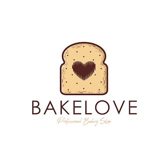 Brood liefde logo sjabloon