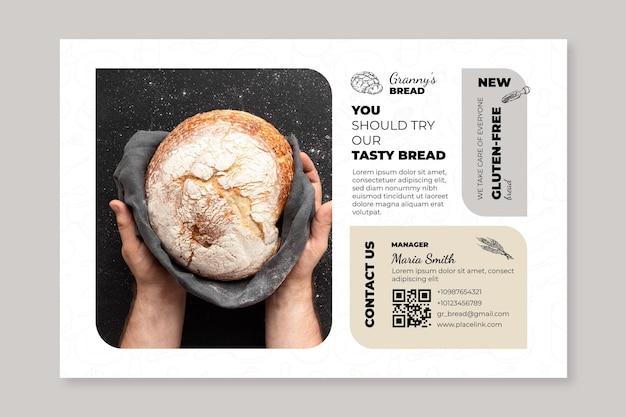 Brood sjabloon voor spandoek met foto