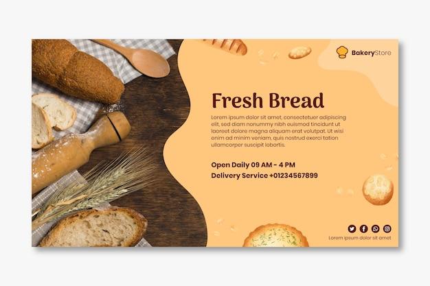 Brood sjabloon voor spandoek
