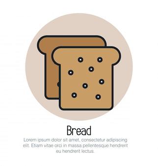 Brood toast geïsoleerde pictogram