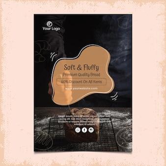 Brood verticale poster sjabloon