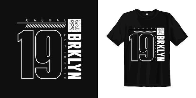 Brooklyn authentiek stijlvol t-shirtontwerp