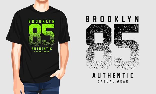 Brooklyn - casual heren t-shirt