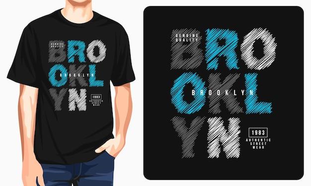 Brooklyn - grafisch t-shirt