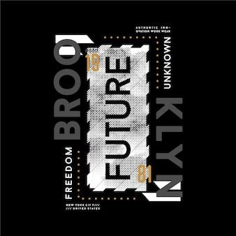 Brooklyn, met slogan citaat abstracte grafische t-shirt ontwerp typografie