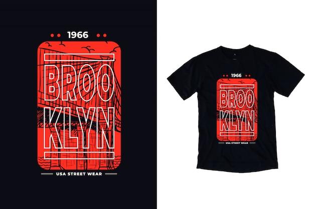 Brooklyn moderne omtrek belettering