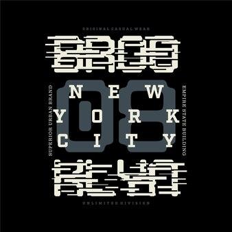 Brooklyn new york city belettering gestreepte grafische t-shirt ontwerp typografie