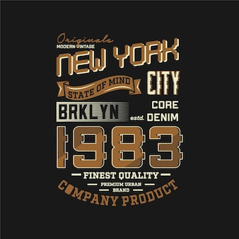 Brooklyn new york city belettering symbool grafisch t-shirt ontwerp typografie