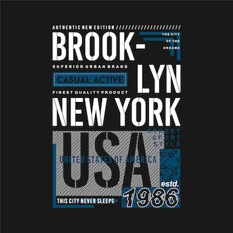 Brooklyn new york city usa grafisch t-shirt tekst frame typografie vectorillustratie