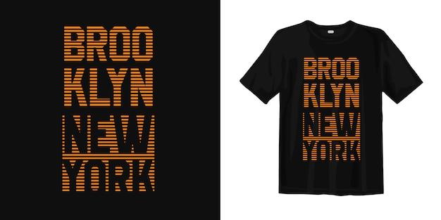 Brooklyn new york typografie t-shirt design