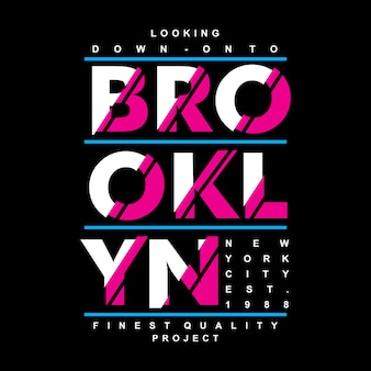 Brooklyn stads grafisch ontwerp
