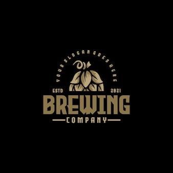 Brouwen logo vintage referentie