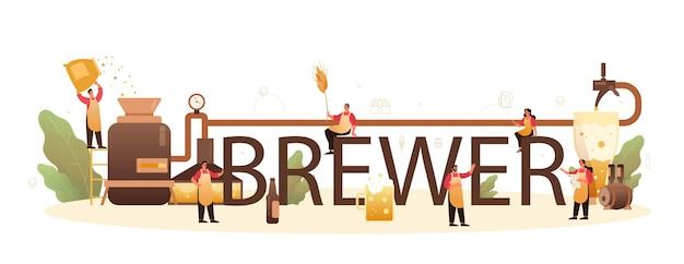 Brouwer typografische koptekst illustratie