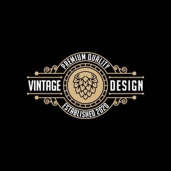 Brouwerij, ambachtelijke bier vintage logo ontwerpsjabloon
