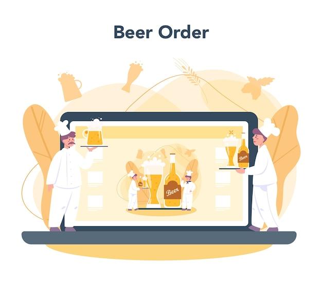Brouwerij online service of platform Premium Vector