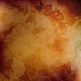 Brown blur aquarel achtergrond met geel oranje kleurschakeringen
