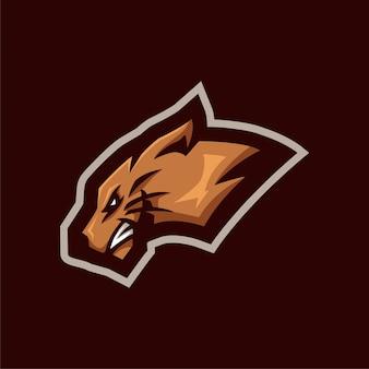 Brown tiger-logo