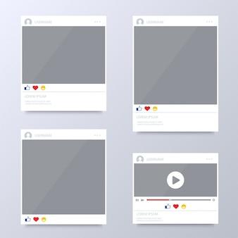 Browser venster sjablonen