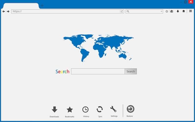 Browservenster op transparant. browser zoeken.