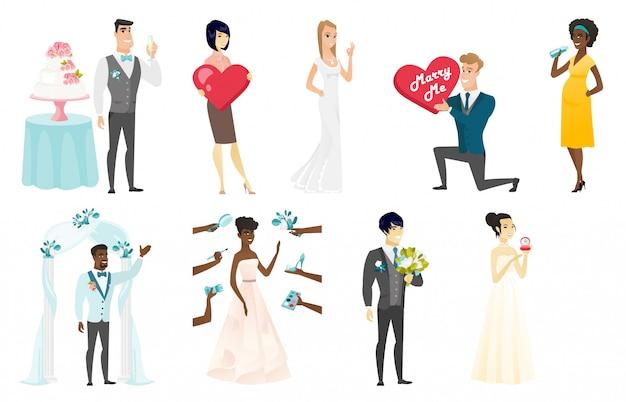 Bruid en bruidegom set