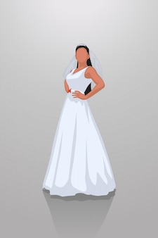 Bruid op grijs