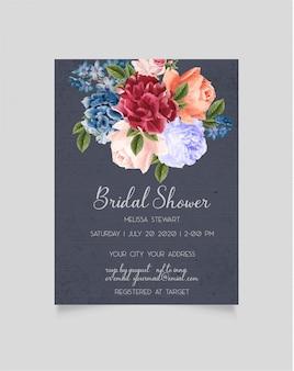 Bruids douche uitnodiging sjabloon