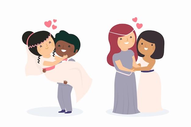 Bruidspaar illustratie