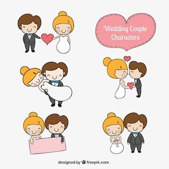 Bruidspaar karakters