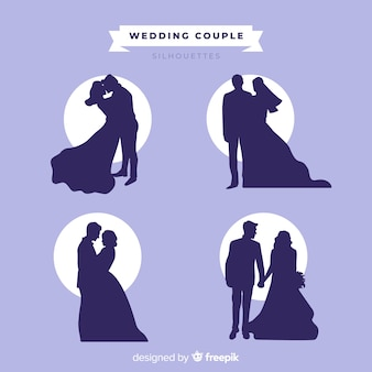 Bruidspaar silhouet collectie