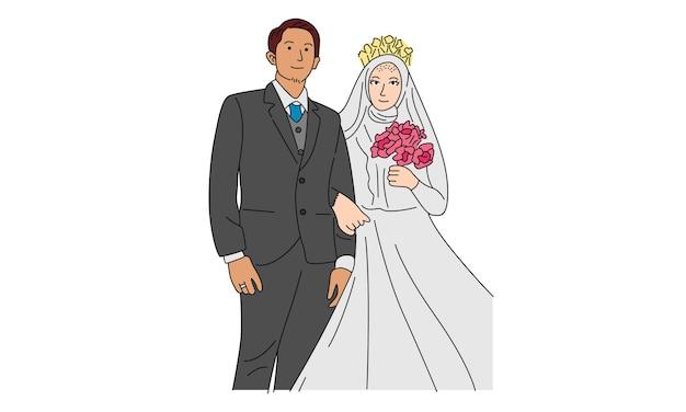Bruidspaar voor verloving of huwelijk
