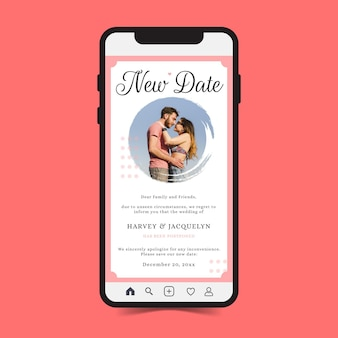 Bruiloft aankondiging uitgesteld