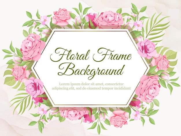 Bruiloft banner achtergrond bloemen en blad