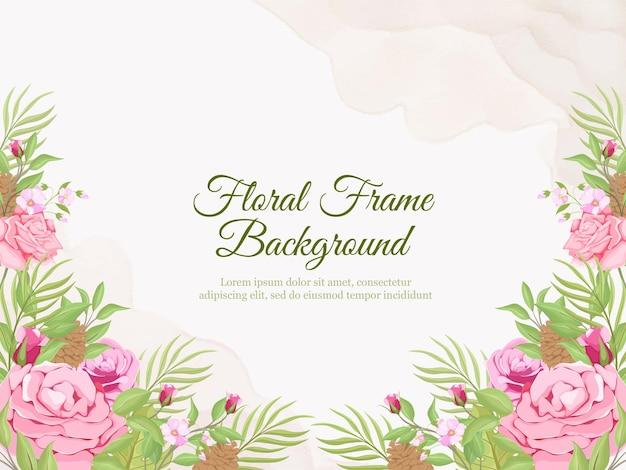 Bruiloft banner achtergrond flora vector sjabloon