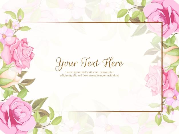 Bruiloft banner achtergrond floral concept sjabloon