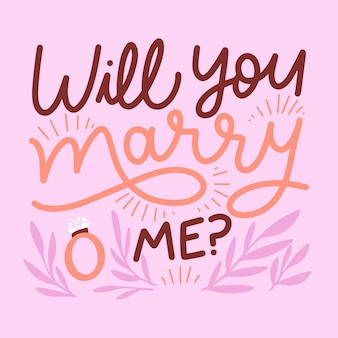 Bruiloft belettering bericht concept