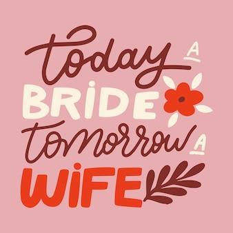 Bruiloft belettering bericht