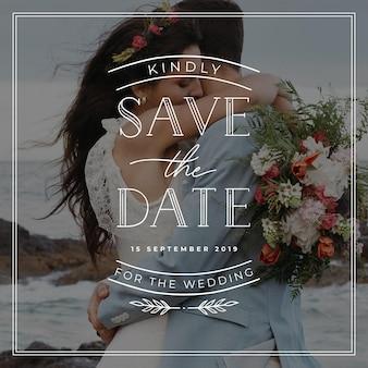 Bruiloft belettering ontwerp