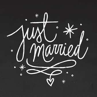 Bruiloft belettering op blackboard