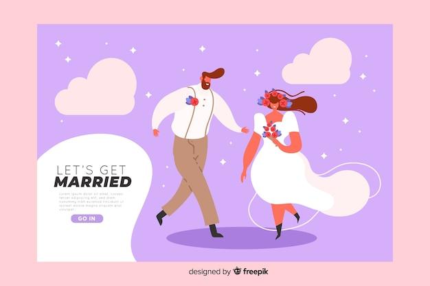 Bruiloft bestemmingspagina sjabloon