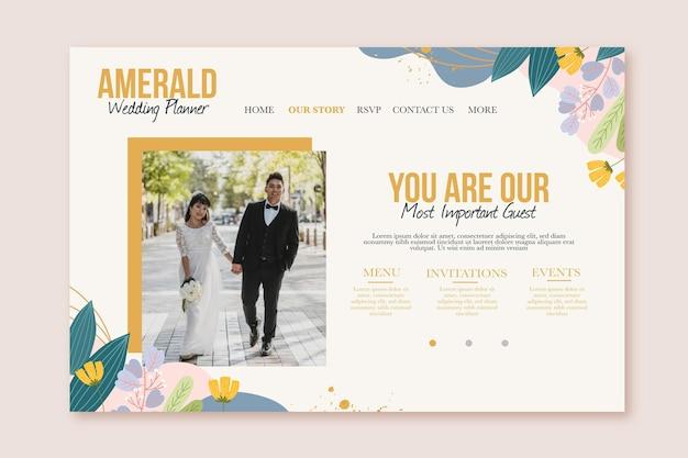 Bruiloft bestemmingspagina