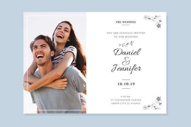 Bruiloft bewaar de datum-sjabloon