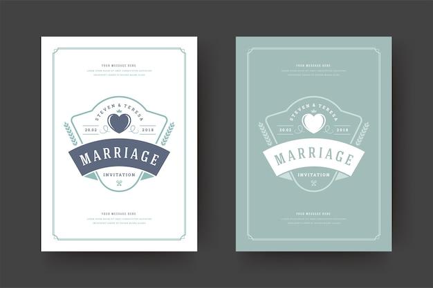 Bruiloft bewaar de datum uitnodiging kaart illustratie
