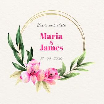 Bruiloft bloemen frame concept