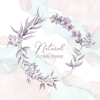 Bruiloft bloemen frame met waterverf