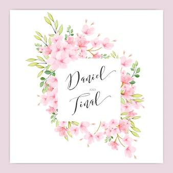 Bruiloft bloemen kersenbloesem frame