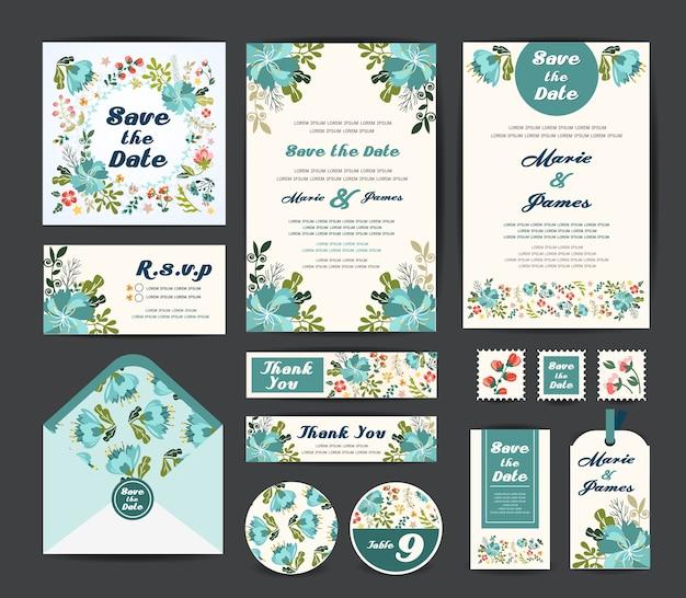Bruiloft bloemen sjabloon