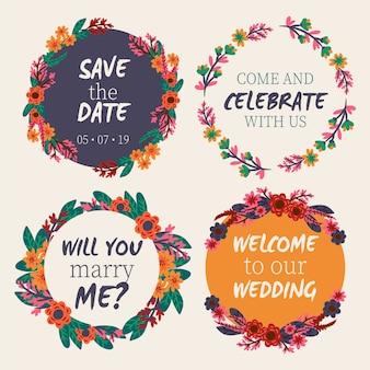 Bruiloft bloemenkaders